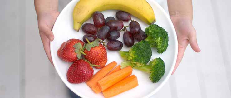 Color your plate - flat stomach
